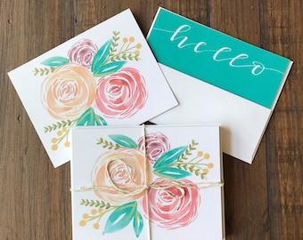 Bright floral notecard