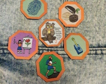 Original GIRL GUIDE Brownies Badges | Iron on Patch | Hiking | Cookies | Camping | Scout |