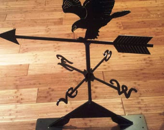 Metal Eagle Weather Vane for the Roof of Your Home, Garage or Hunting Cabin