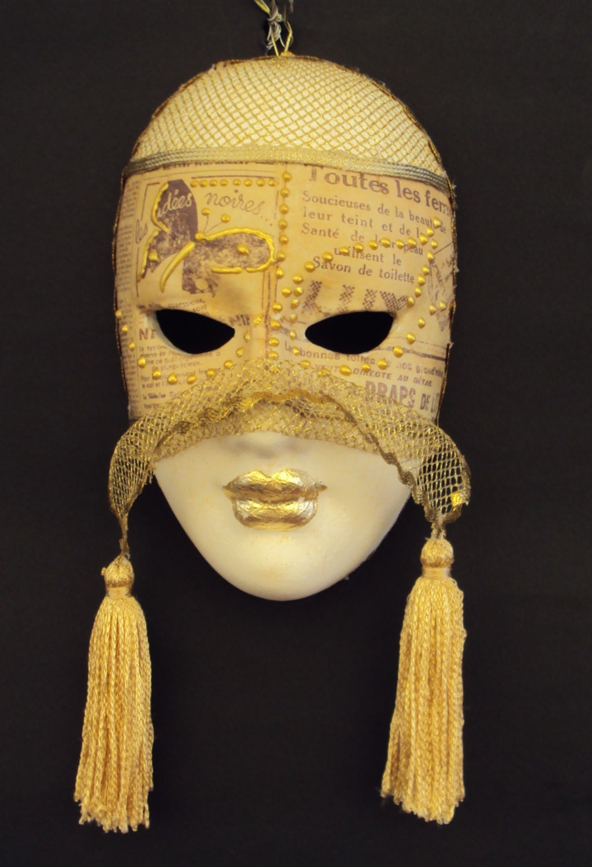 Venetian Ceramic Mask Handmade Wall Decoration