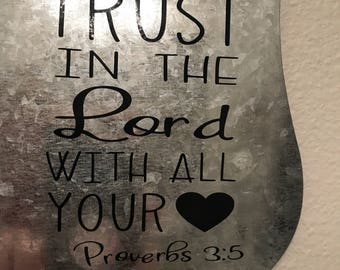 "Magnet Memo Board ""Trust in the Lord"""