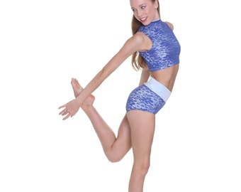 Presley Set Briefs and Fitted High Neck Dance Top Dancewear