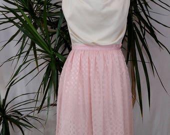90's Argenti pink silk skirt, midi, slit in back, side button, designer, vintage