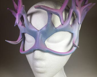 Pink/White/Blue Leather Mask