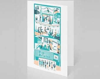 Brixton Pop, London card