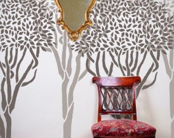 STENCIL for Walls - Topiary TREE - Over 6 ft. tall - Wall Stencil - Durable, Reusable DIY Home Decor