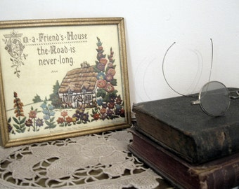 Antique Picture in Frame by Alan Tabor - Illustration of Friendship - Antique Picture -  Wall Hanging about Friendship