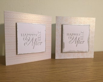 Happily ever after wedding or engagement card