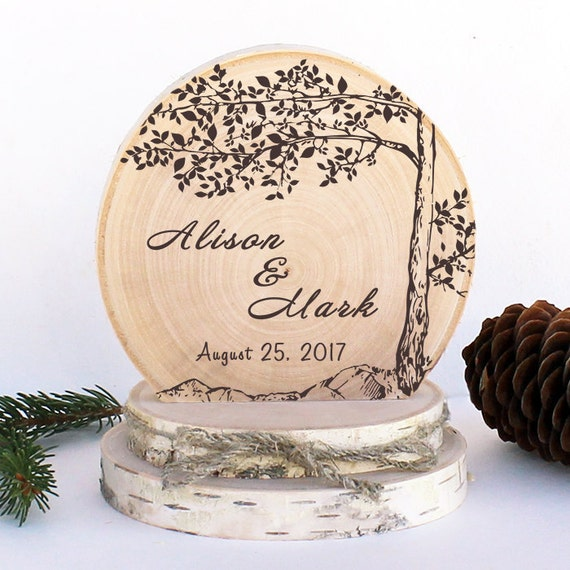 rustic wedding cake toppers canada rustic wedding cake topper tree on cliff cake topper rustic 19582