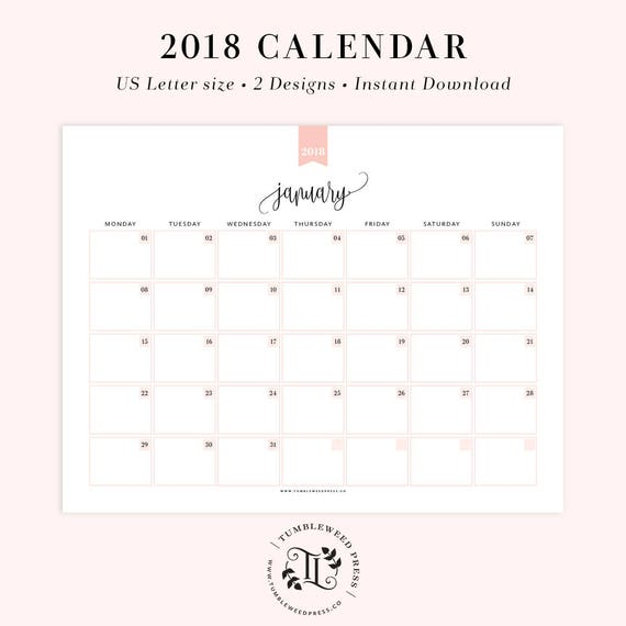 Printable Calendar Monthly Planner Printable Month At A