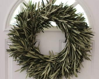 """Olive Branch Wreath- 20"""""""