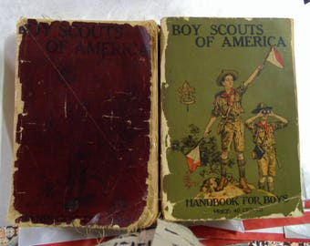Boy Scout Books, January 1925 and 1911, Both in Fair Condition