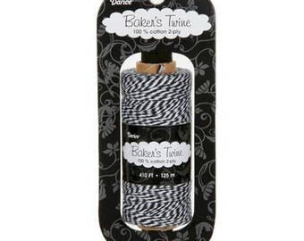 BAKER'S TWINE 100% cotton 2-ply - 103 Black and White / By 10 M