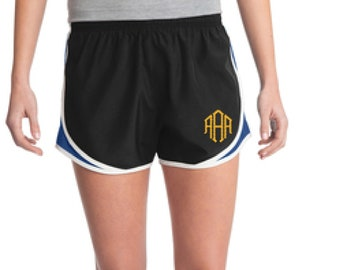 Black & Royal Monogrammed Shorts, Personalized Running Shorts, Work Out Shorts, Gym Shorts, Monogrammed Running Shorts, Personalized Shorts