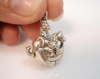 Noah's Ark Sterling Silver 925 Charm Pendant