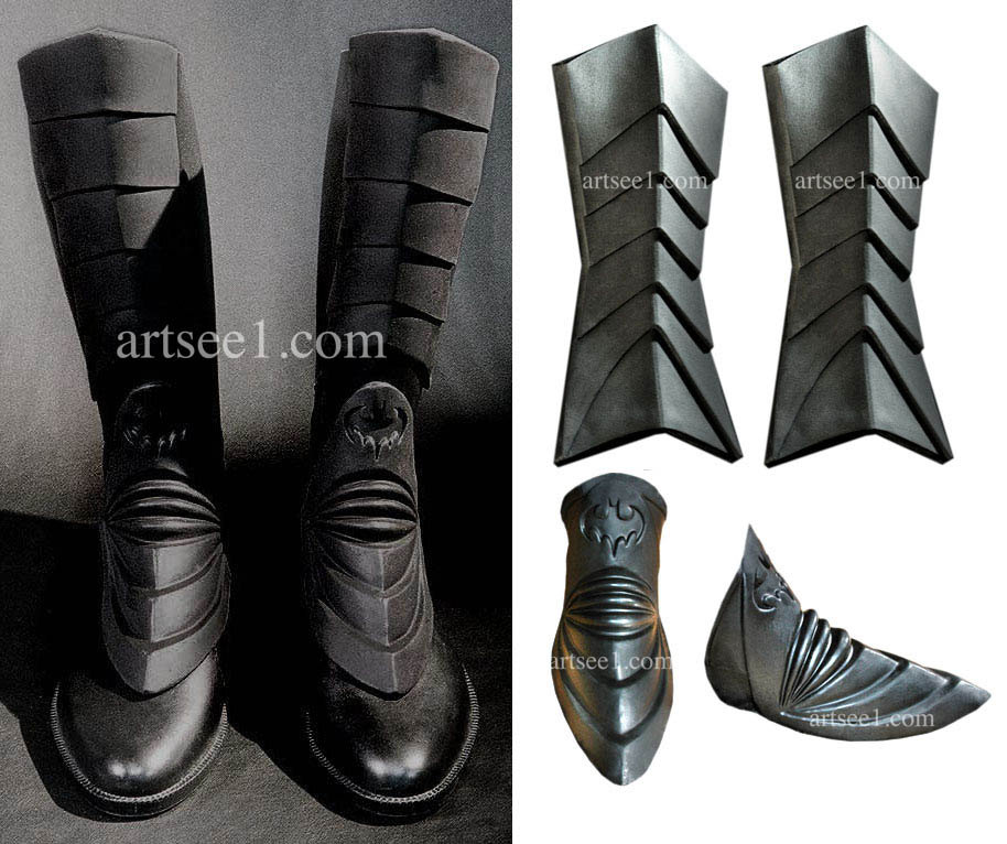 ?zoom  sc 1 st  Etsy & The Dark Hero Armor Latex Boots Spats For Your Home Made