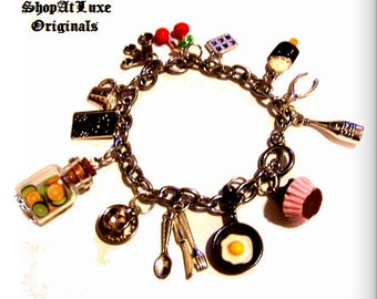 Culinary Foodie Fun Ltd Original Charm Bracelet by ShopAtLuxe