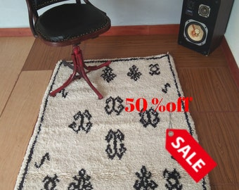 Free shipping beni ourain, azilal rug, ivory beni ourain, minimaliste rug, mudcloth art, Beni ourain rug,#10