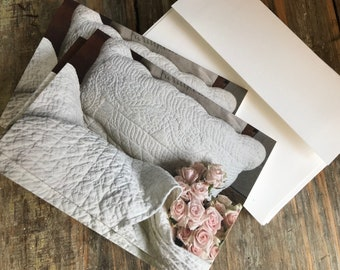 Farmhouse Stationery Antique Quilt Collection Set of 3 Notecards