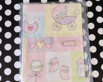Everything a Girl Could Want~Baby Girl Gift Wrap~Girl Baby Shower Wrapping Paper~Vintage~American Greetings