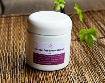 Natural Cream Deodorant 4oz -Vegan-