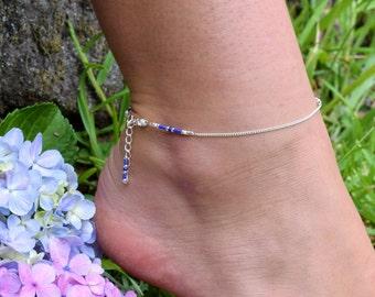 Friendship anklet,Beaded Anklet,Anklet,Silver Chain Anklet,Boho Anklet,Minimalist jewelry,Australia,Beach Anklet,Beach jewellery,Thin Anklet