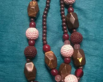 Multi-beaded necklace | African