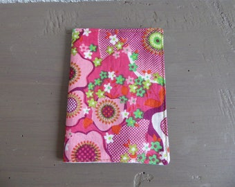 Pink and green floral Passport cover, lined