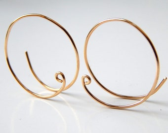 Gold Hoop Earrings, Sterling Silver Hoops, Earrings, Rose Gold Hoops, Silver Hoops, 14k Gold Small Open Hoops, Earrings, Gift Ideas