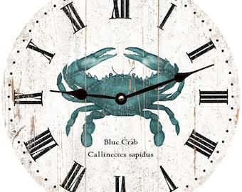 Granchio blu orologio da parete orologio - rustico granchio