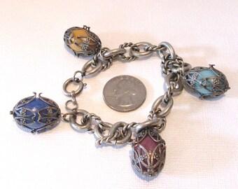Statement Bracelet, Vintage Bracelet, Chunky Bracelet, Colorful Bracelet, Fun and Funky Bracelet, Vintage Statement Bracelet