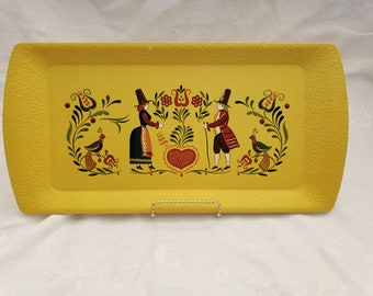 Set of 4 Pennsylvania Dutch Folk Art Kentley Trays