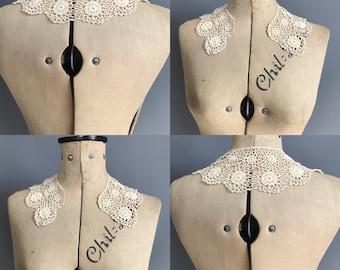 Antique irish crochet collar, edwardian collar