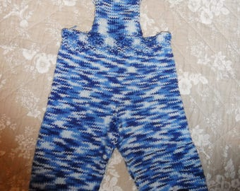 pants overalls shades of blue with buttons on the front