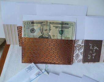 Cash Envelopes Metallic, Envelopes, Gift For Men, Anniversary Gift, Woodland, Cash Envelope System, Nature, Geometric, 7 Inch, Hand Stitched