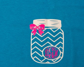 Mason Jar Monogram T-shirt