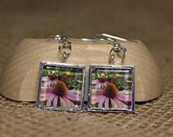 Handcrafted Monarch Butterfly Original Wearable Art Photo Earrings
