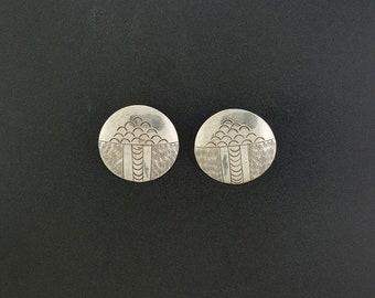 Vintage Navajo round post earrings