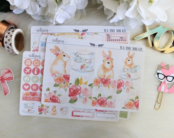 Tea Time, Mini Planner Kit, Planner Stickers
