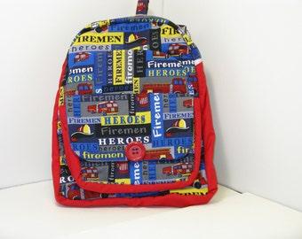 Fireman Heroes PreSchool Backpack