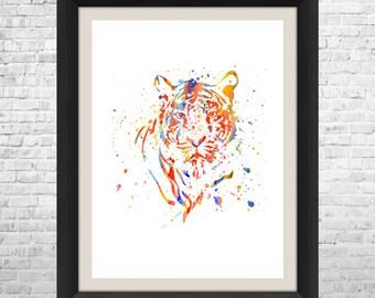 Tiger Watercolor Art Print, Tiger Wall Art, Watercolor Art, Watercolor Painting, Watercolor Print, Animal Poster, Home Decor