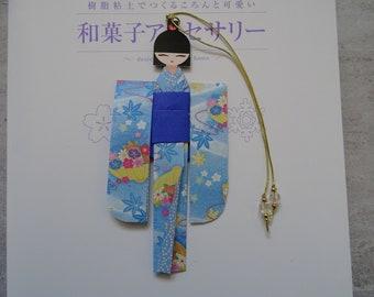 BMA00007 Handmade kawaii cute Japanese Origami Geisha bookmark Shiori Ningyo Washi Chiyogami Yuzen Kokeshi paper craft back to school