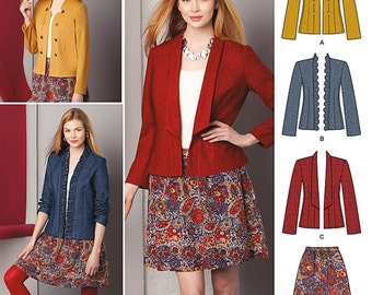 OUT of PRINT Simplicity Pattern 1542 Misses' Jacket and Skirt