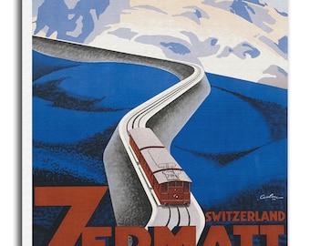 Art Zermatt Switzerland Travel Poster Wall Swiss Decor Print Gift  xr548