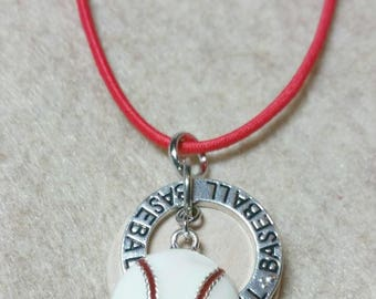 Baseball mens diffuser necklace, womens diffuser necklace, essential oil necklace, diffuser, aromatherapy necklace, teen necklace, sport,442