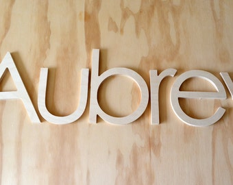 14 INCH unfinished wooden letters-wooden wall letters- nursery letters- hanging letters- any FONTS