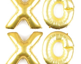 XOXO balloon letter balloon set/ decorations / new year / balloons / mylar balloons/ foil balloons/ pick colors- gold, rose gold, silver
