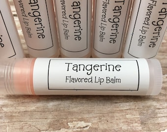 Tangerine Flavored Lip Balm | Bridesmaid Gift | Contains Vitamin E | Beeswax | Shea Butter | Gift for Him | Gift for Her | Chapstick