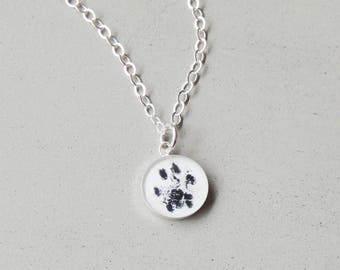 Paw Print Necklace Pet Memorial Jewelry Pet Loss Gifts Dog Lover Gift Cat Lover Gift Dog Mom Gift Cat Memorial Memorial Jewelry
