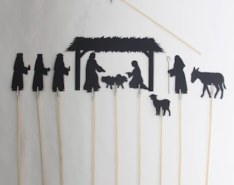 Nativity Shadow Puppets